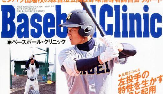 ベースボールクリニック2013年3月号に森士監督のインタビューが掲載されました