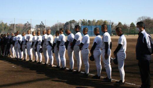 東日本大震災から2年 浦学野球部員らが黙とう