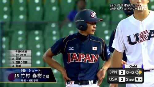 日本、米国に惜敗し準V 竹村、9番遊撃手で先発出場 18U・W杯