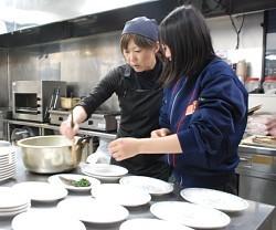 浦和学院、食事で体作り支え 堀川さん「少しでも力に」
