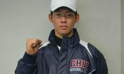 G田畑コーチ次男・瑛仁が中大練習合流 強肩捕手「謙虚に」