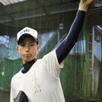 浦和学院の期待の左腕、小倉匡祐投手=さいたま市緑区の同校で