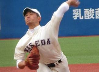 センバツV左腕 早大・小島(35期生)、2回0封4Kデビュー