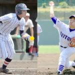 好調の浦和学院打線をけん引する1番諏訪(左)、強力打線に挑む成徳大深谷のエース右腕落合(右)