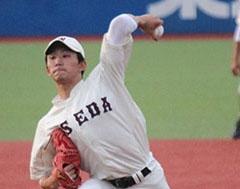 早大の1年生左腕・小島、上々の出来「緊張感あった」 全日本大学野球