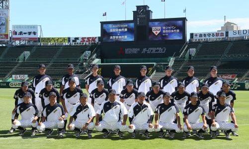 U-18日本代表壮行試合 大学日本代表・佐藤拓也選手、2安打1打点