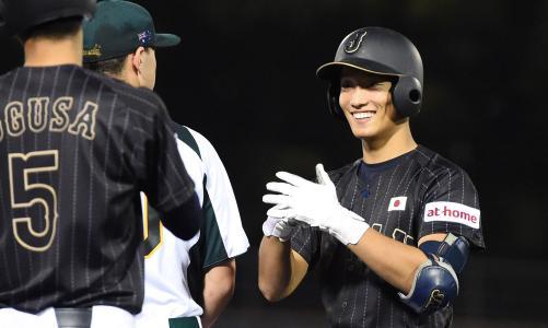 U-18日本代表、豪州に大勝で3連勝 津田、2安打2打点の活躍