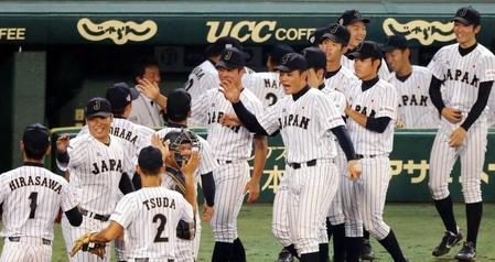 U-18日本代表、韓国にコールド勝ちで決勝進出 津田、3打数1安打2打点