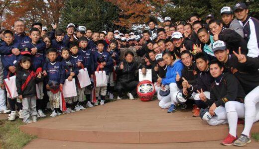 石巻の少年野球チームが5度目の来校、浦学野球部と交流