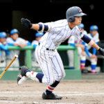 延長11回裏浦和学院1死三塁、家盛が右前へサヨナラ打を放つ