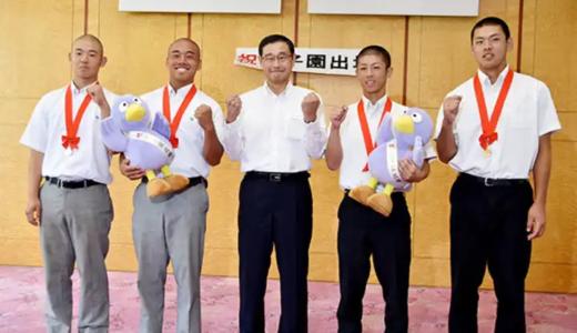 浦和学院と花咲徳栄が副知事表敬「新たなページ刻む」