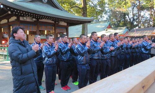 浦和学院が初詣マラソンで始動、甲子園優勝を誓う